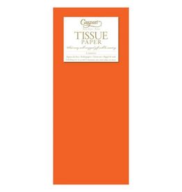 Caspari Orange Tissue Package - 8 Sheets