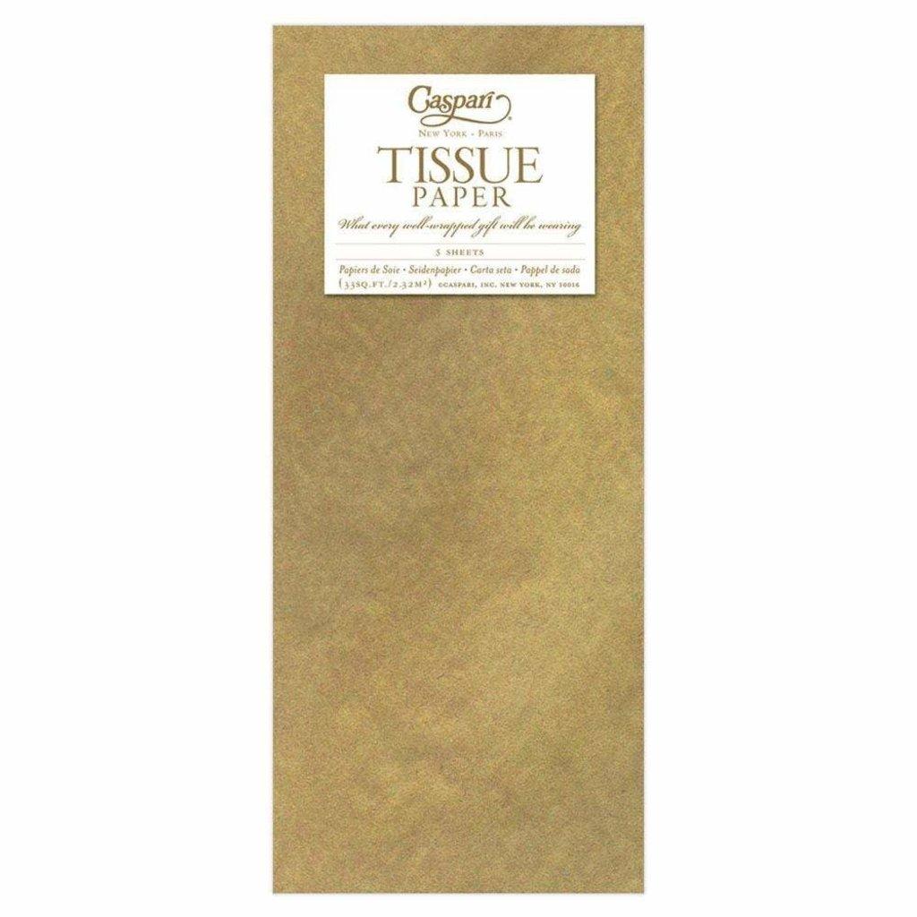 Caspari Gold Tissue Package - 3 Sheets