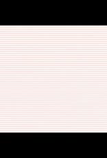 Caspari Oxford Stripe Petal Pink - Continous Wrap Roll