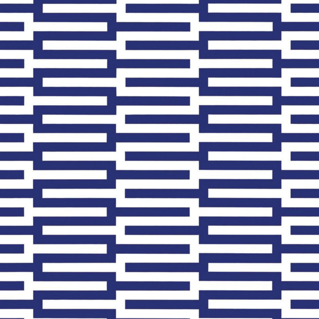 Caspari Zipper Navy & White Reversible - Continous Wrap Roll