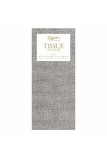 Caspari Jute Charcoal Tissue Package - 4 Sheets