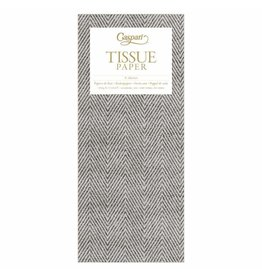 Caspari Jute Charcoal Tissue Package - 4 Sheets