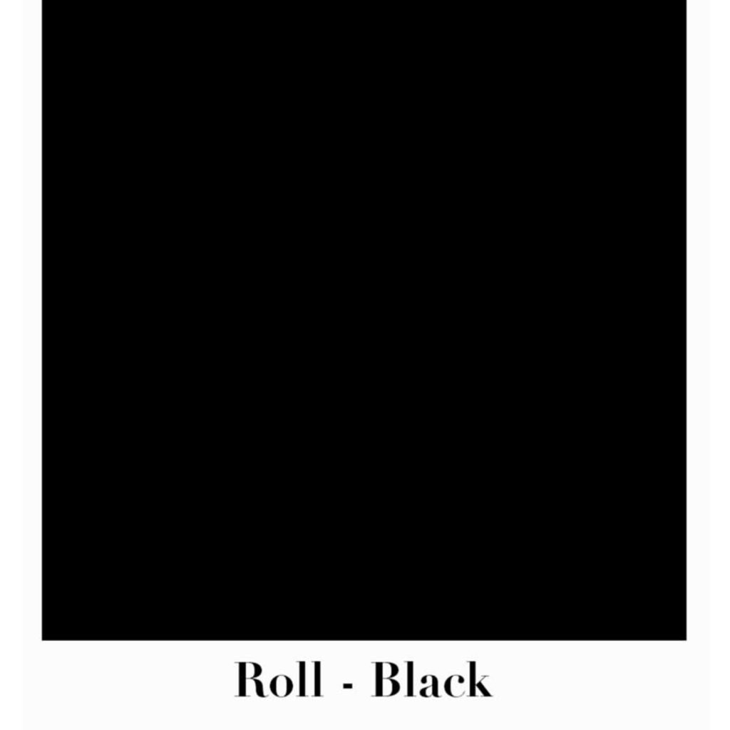 Waste Not Paper Black Continuous Roll Gift Wrap - 10'x30""