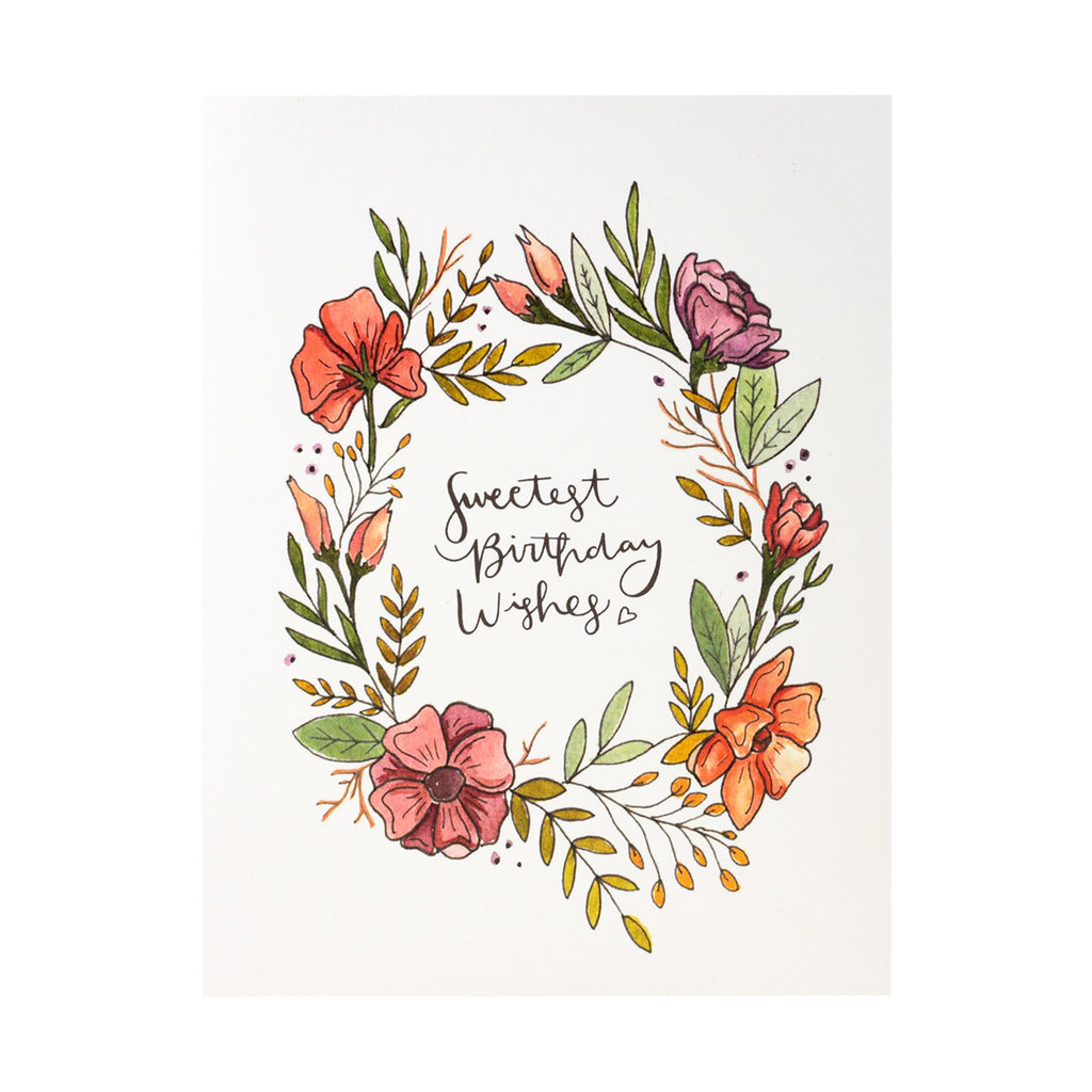 KPB Designs Sweet Birthday Wishes Floral Greeting Card
