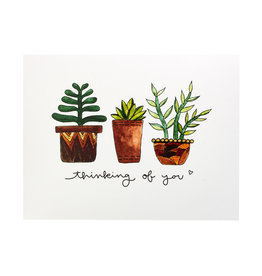 KPB Designs Thinking Of You Succulents Greeting Card