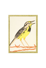 PushMePullYou Press Meadowlark Letterpress Card