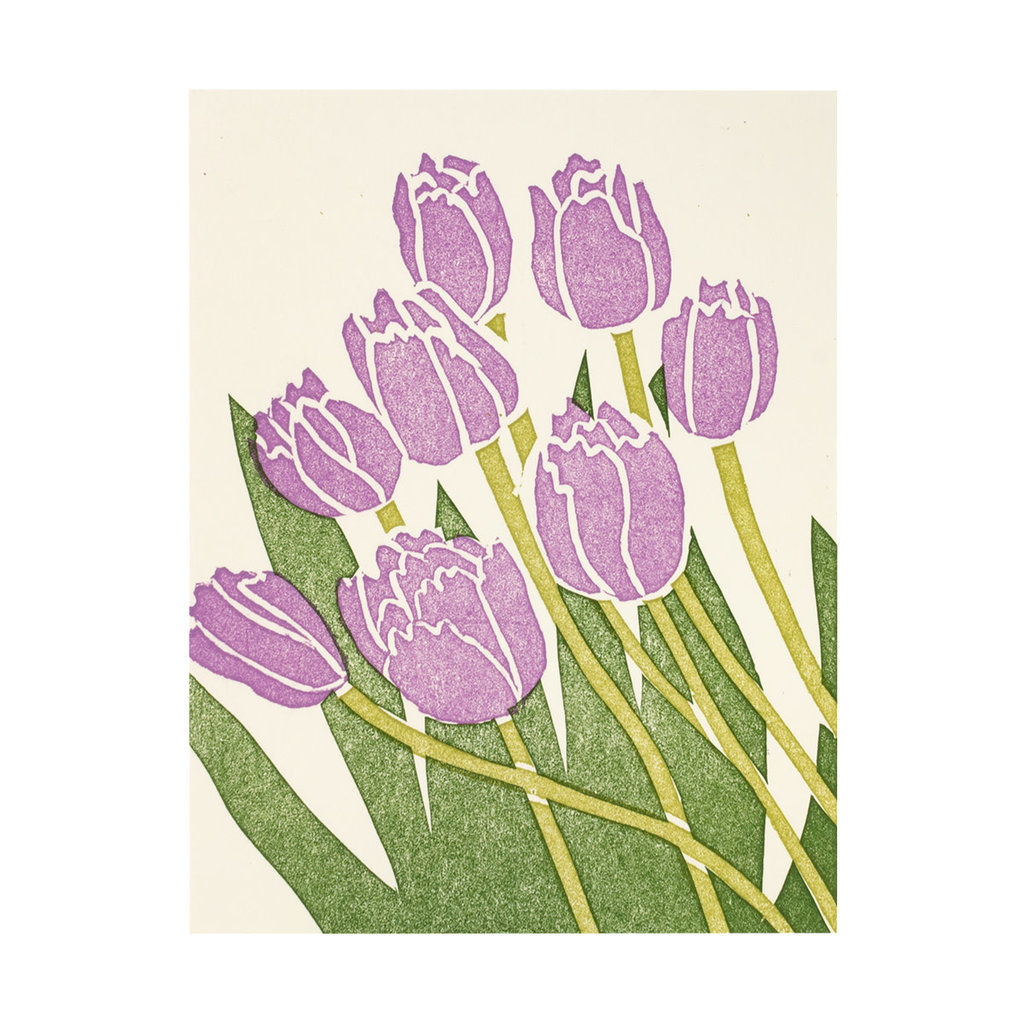 PushMePullYou Press Tulip Letterpress Card