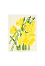 PushMePullYou Press Daffodil Letterpress Card