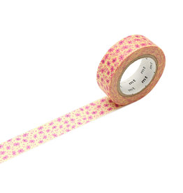 mt Pink Flower Washi Tape