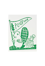 Ghost Academy Portland Block Printed Card