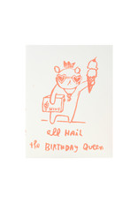 Ghost Academy Birthday Queen Woodblock Print Card