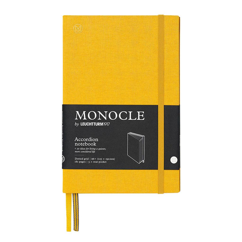 Leuchtturm Monocle Wallet Accordion Notebook B6 Yellow Dot