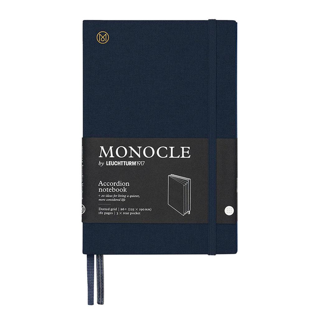 Leuchtturm Monocle Wallet Accordion Notebook B6 Navy Dot