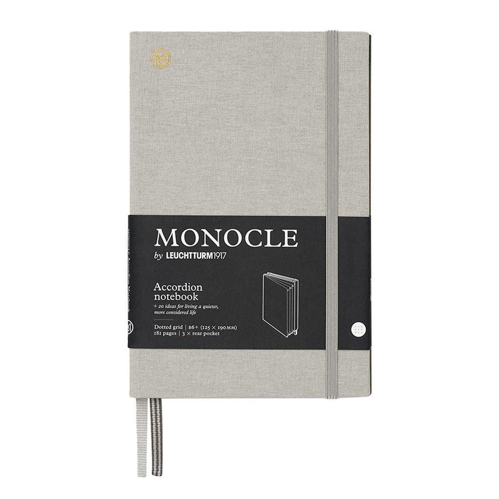 Leuchtturm Monocle Wallet Accordion Notebook B6 Light Grey Dot