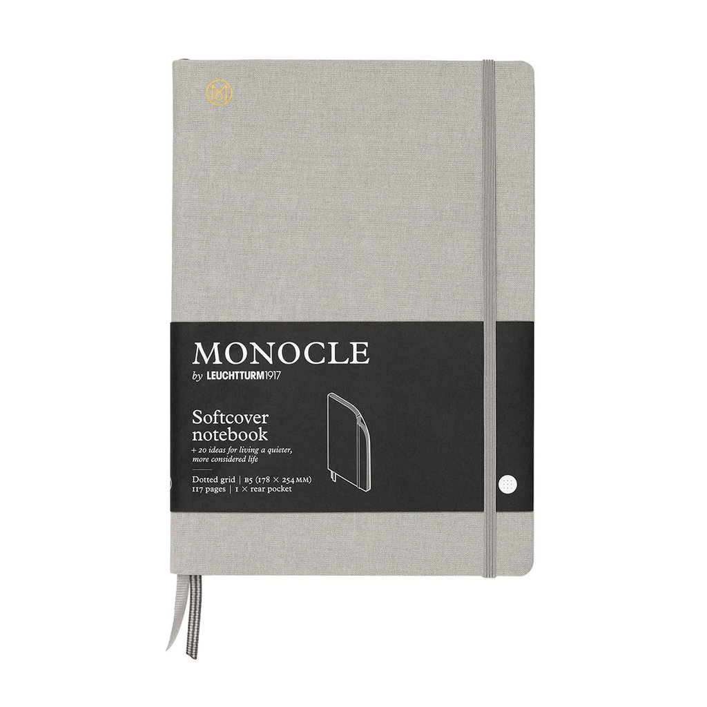 Leuchtturm Monocle Notebook Softcover Composition B5 Light Grey Dot