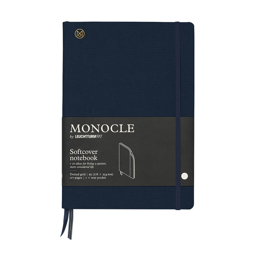 Leuchtturm Monocle Notebook Softcover Composition B5 Navy Dot