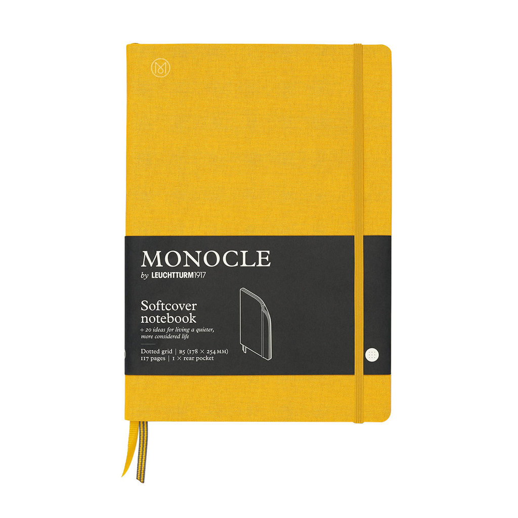 Leuchtturm Monocle Notebook Softcover Composition B5 Yellow Dot