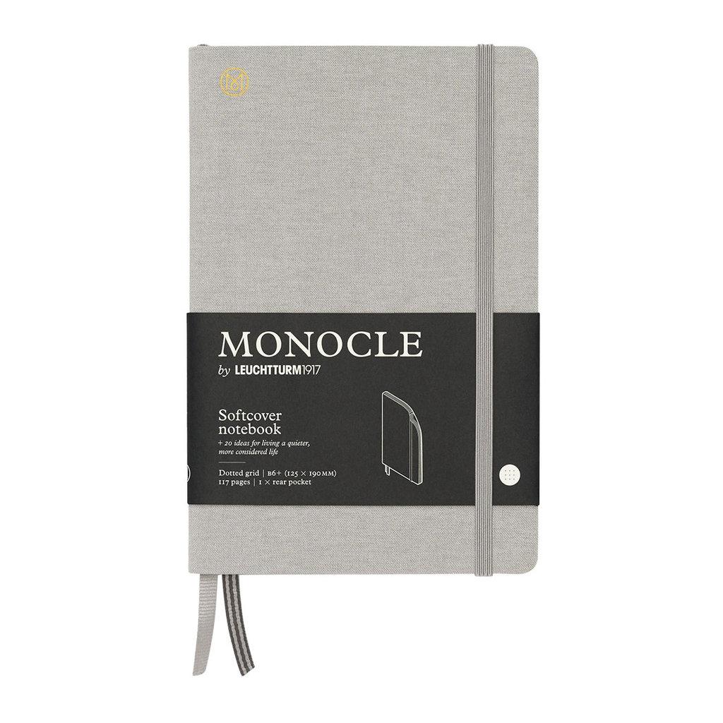Leuchtturm Monocle Notebook Softcover Medium B6 Light Grey Dot