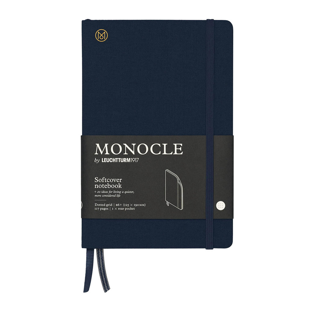 Leuchtturm Monocle Notebook Softcover Medium B6 Navy Dot