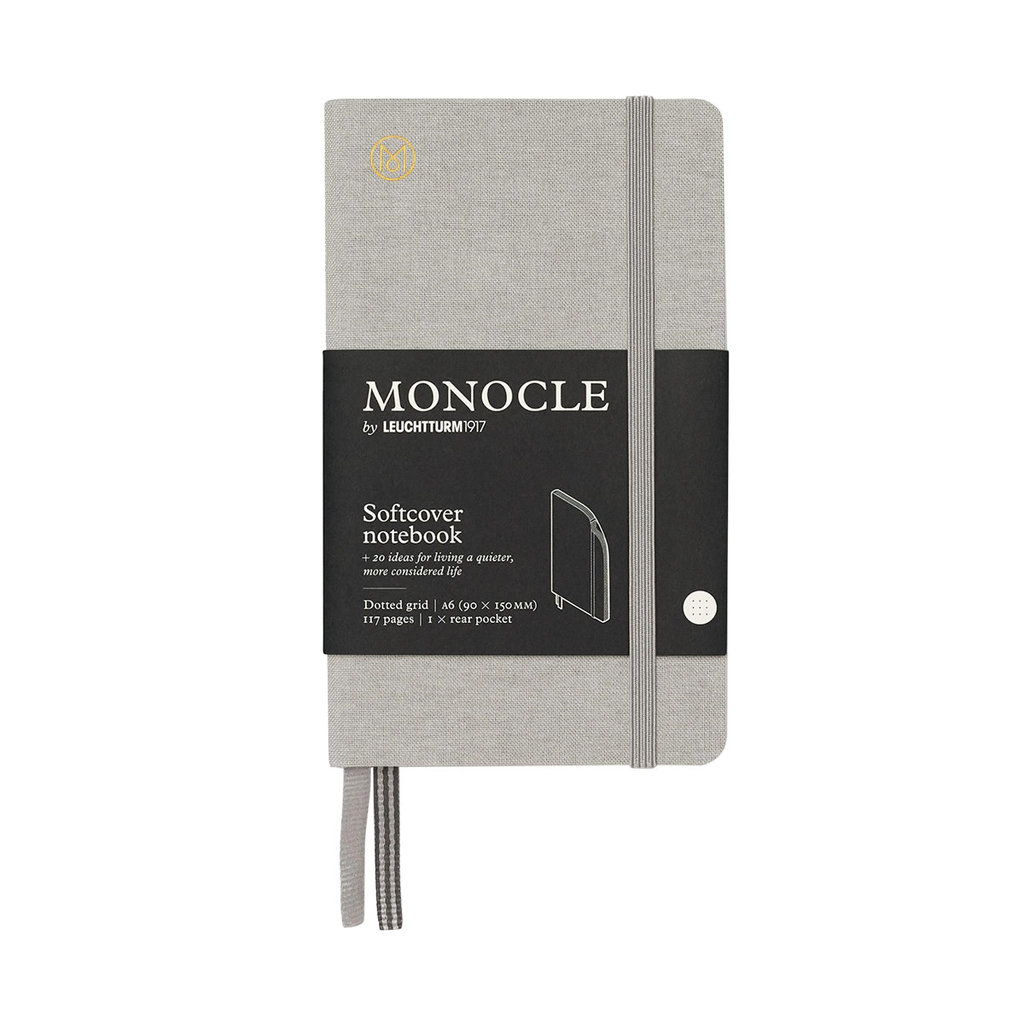 Leuchtturm Monocle Notebook Softcover Pocket A6 Light Grey Dot