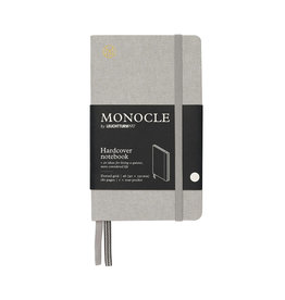 Leuchtturm Monocle Notebook Hardcover Pocket A6 Light Grey Dot