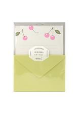 Midori Letter Set 475 Letterpressed Cherry