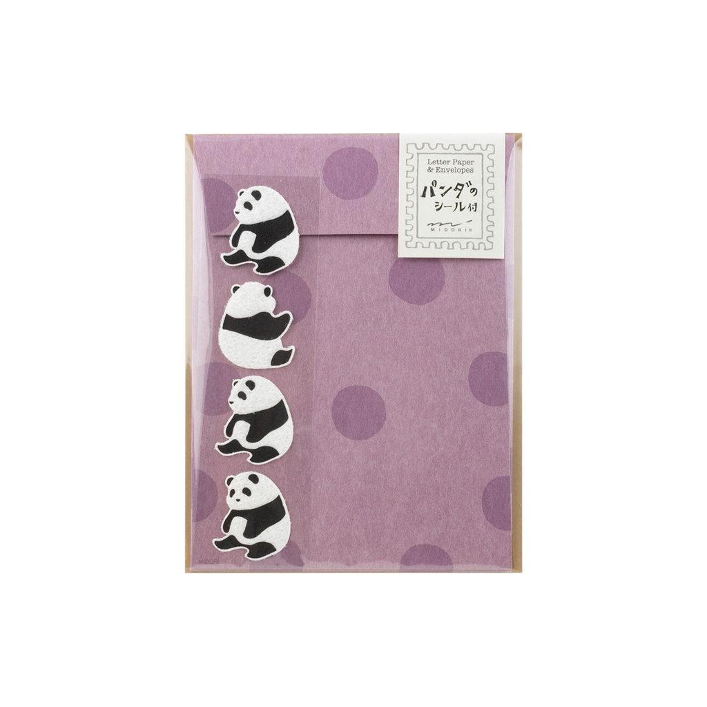 Midori Letter Set Panda with Stickers