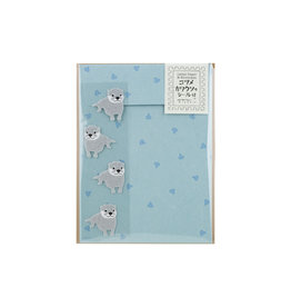 Midori Letter Set Otter with Stickers