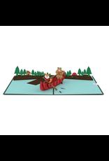 Lovepop Fox and Bear Canoe Pop-Up Card