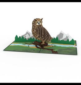 Lovepop Horned Owl Pop-Up Card
