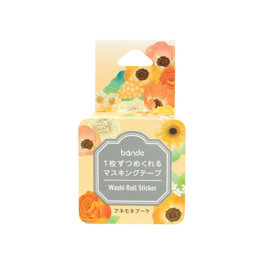 Bande Bande Washi Sticker Roll Anemone Bouquet