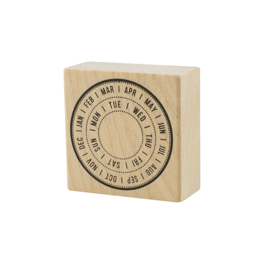 Monthly Calendar Rubber Stamp