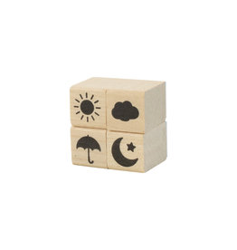 Weather Rubber Stamps set of 4