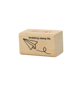 Paper Airplane Rubber Stamp