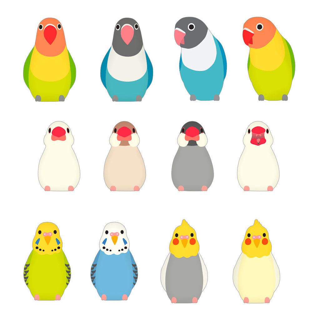 Bande Bande Washi Sticker Roll Parakeet