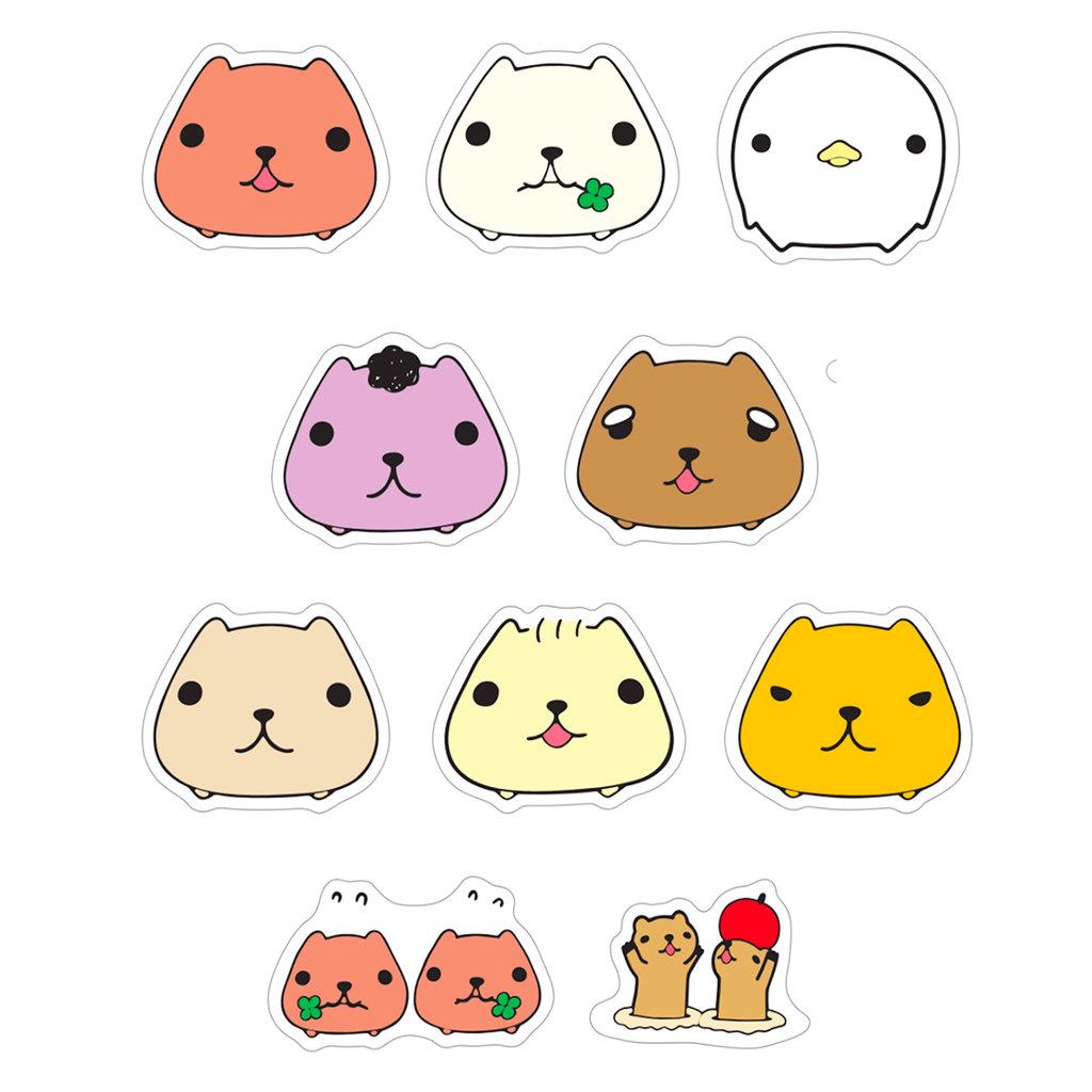 Bande Bande Washi Sticker Roll Capybara