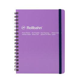 Rollbahn Rollbahn Large Spiral Notebook Light Purple