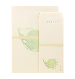 Green Watermelon Letter Set Packet