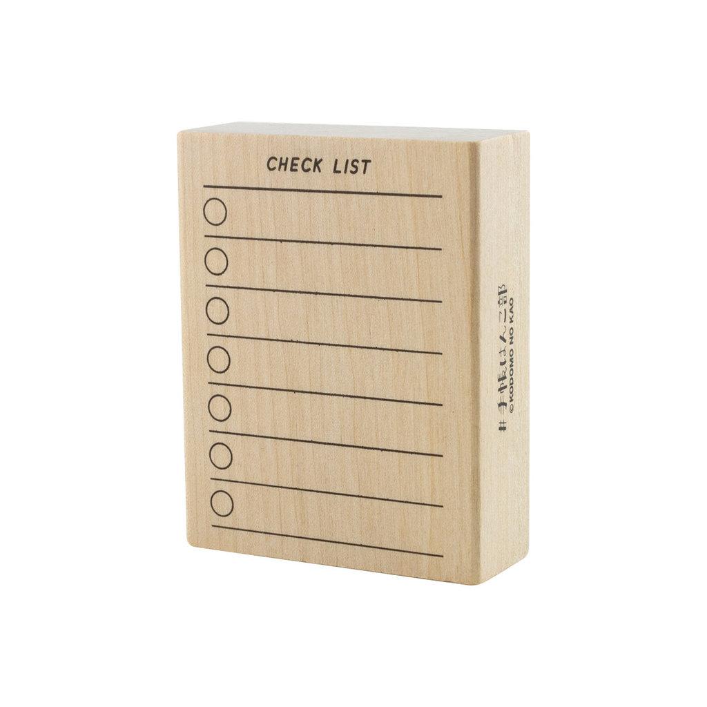 Checklist Rubber Stamp