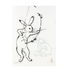 Clear File Folder Rabbit Bow & Arrow