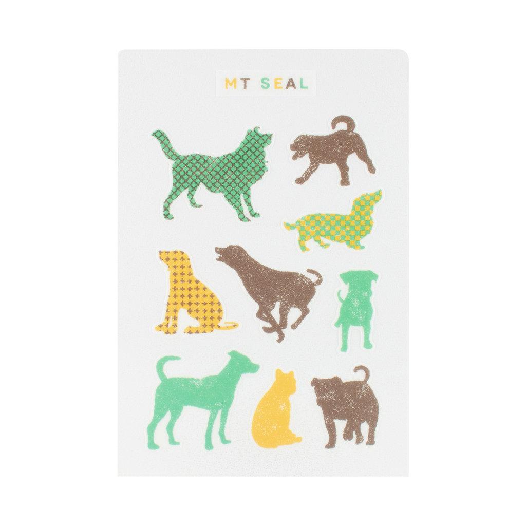 mt MT Dog Sticker Seals