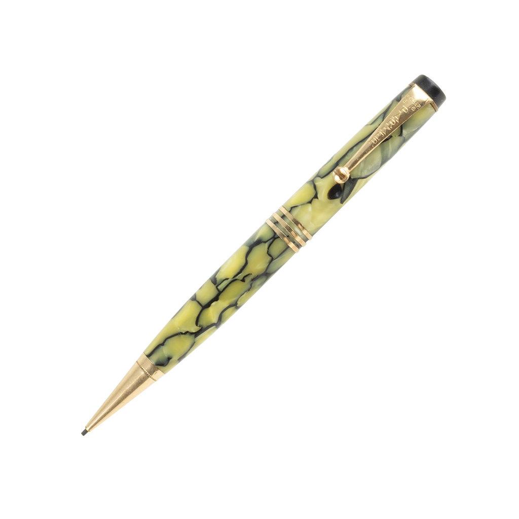 Vintage Parker Duofold Jr Olive & Black Mechanical Pencil