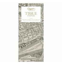 Caspari London Map Tissue Paper - 4 Sheets