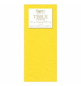 Caspari Yellow Tissue Package - 8 Sheets