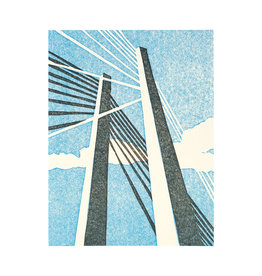 PushMePullYou Press Tilikum Bridge Letterpress Card