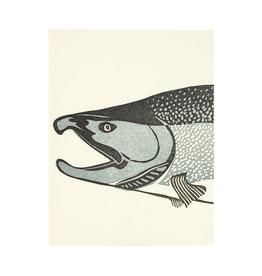 PushMePullYou Press Salmon Letterpress Card