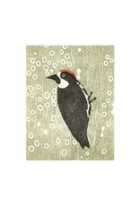 PushMePullYou Press Acorn Woodpecker Letterpress Card