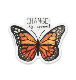 KPB Designs Change Is Good Butterfly Sticker