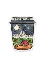 KPB Designs Adventure Coffee Cup Sticker