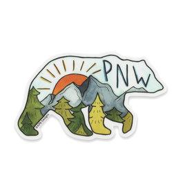 KPB Designs PNW Bear Sticker